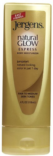 - Jergens Natural Glow Express Body Moisturizer for Fair to Medium Skin 4 Oz (Pack of 2)