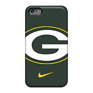 Shock Absorption Hard Cell-phone Cases For Apple Iphone 6 (vFF16201NCwB) Provide Private Custom Colorful Greenbay Packers Skin