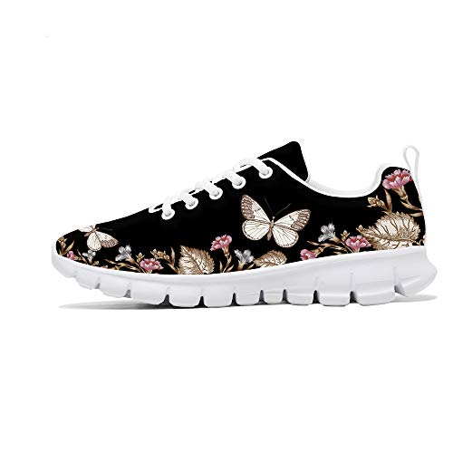 FIRST DANCE Shoes for Women Flower Design Printed Running Tennis Shoes Lightweight Walking Floral Candy Print Shoes for Women Fashion Sneaker Spring Shoes Cute for Ladies 7US