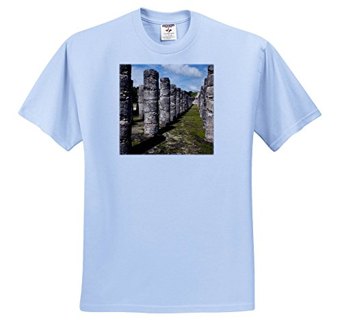 Price comparison product image 3dRose Danita Delimont - Ruins - Mexico, Merida, Chichen Itza. The Thousand Columns Of The Town Hall - T-Shirts - Youth Light-Blue-T-Shirt XS(2-4) (TS_258484_59)