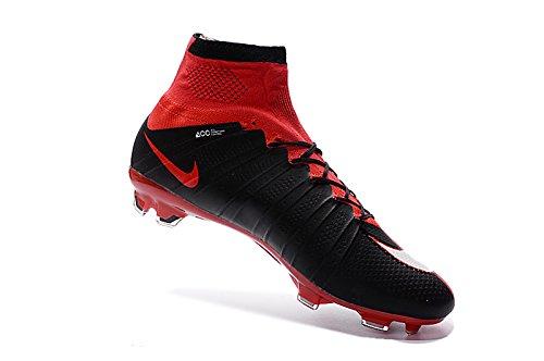 yurmery Zapatos para hombre Mercurial Superfly FG–Botas de fútbol, hombre, rojo, 45