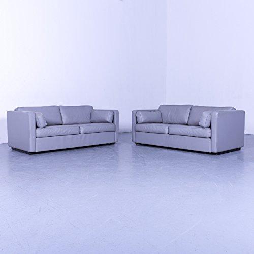 Walter Knoll Designer Leder Sofa Garnitur Grau Zweisitzer ...