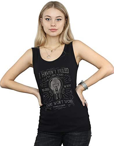 Negro Thomas Edison Lightbulb Camiseta Mangas Mujer Drewbacca Sin 0qFfw