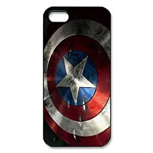 Protective Cheap Cover Comic Captain America Custom Plastic Hard Case Personalized Cases For Iphone 5 Ip5-AX51503
