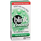 blink Contacts Lubricating Eye Drops For Soft & RGP Lenses - 0.34 oz, Pack of 2