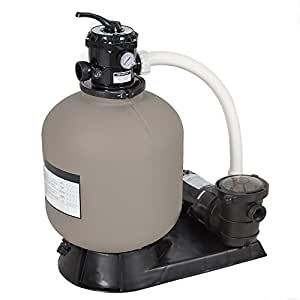Best Choice Products 4500GPH Above Ground Swimming Pool Pump System w/Sand Filter, 1.0HP