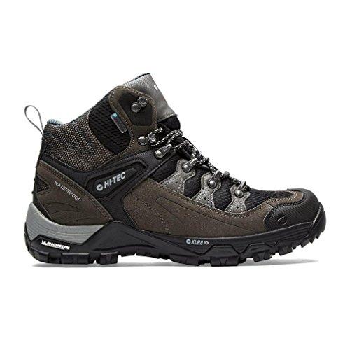 Hola Tec Pathfinder I Botas para caminar Hombre Senderismo Trail Shoes Brown, Gris, 41