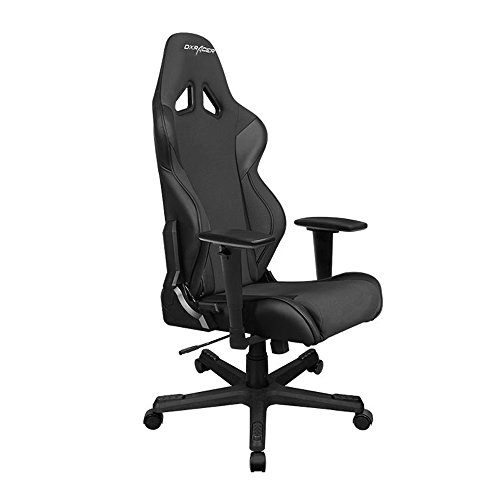 DXRacer Racing Series DOH/RW106/N Newedge Edition Racing Bucket Seat Office Chair Gaming Chair Automotive Racing Seat Computer Chair eSports Chair Executive Chair Furniture With Pillows (Black) (Back Straight Covers Chair)