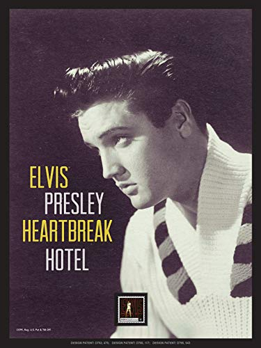 Imperial Mint Elvis Presley Heartbreak Hotel 191314SS01 Framed Wall Art, Multicolor