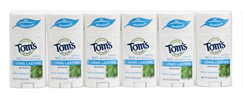 Tom's of Maine Natural Care Deodorant Solid, Woodspice, 2.25 Ounce, Pack of 6 (Deodorant Tom Natural)