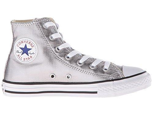 Converse Kids Chuck Taylor All Star Hi Top Fashion Sneaker Shoe - Metallic Gunmetal/White/Black - 2 by Converse