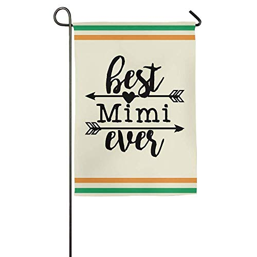 HUVATT Best Mimi Ever Garden Flag Indoor & Outdoor Decorative Flags for Parade Sports Game Family Party Wall Banner 28 x 40 inch