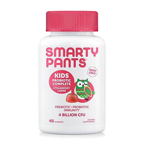 SmartyPants Kids Probiotic Complete; Probiotics & Prebiotics; Digestive & Immune Support* Gummies; 4 billion CFU, Strawberry Crème; 45 Count