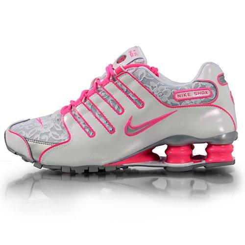 984405e1cd35 Nike Women Shox NZ White Metallic Silver Pink Flesh LACE 311137-105   Amazon.ca  Shoes   Handbags