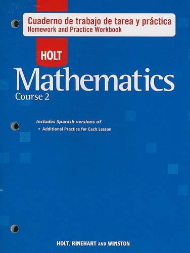 Descargar Libro Holt Matematicas, Curso 2: Cuaderno De Trabajo De Tarea Y Practica Holt Rinehart & Winston