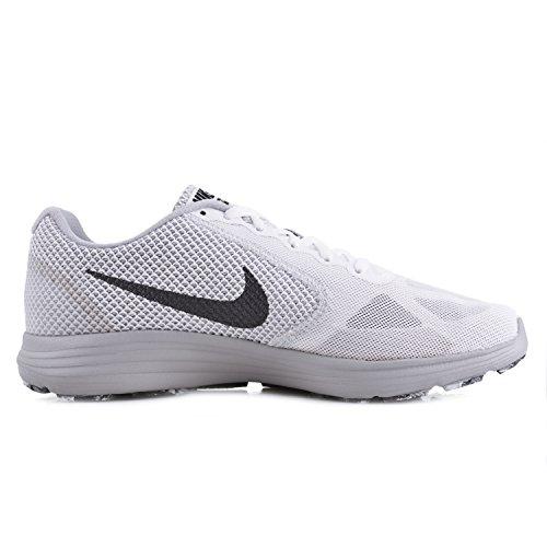 Nike Revolutie 3 Loopschoenen Ivoor (wit / Mtlc Hematiet / Wolf Grijs / Zwart)