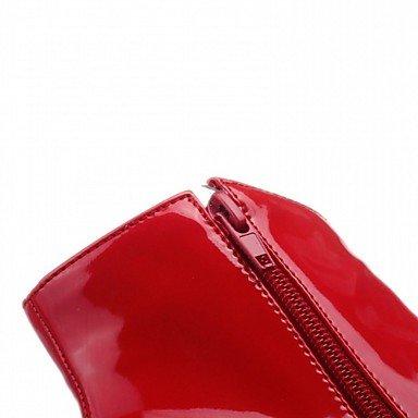 CH&TOU Da donna-Stivaletti-Matrimonio Ufficio e lavoro Formale Casual Serata e festa-Plateau Comoda Innovativo-A stiletto Plateau-Vernice Finta , us8 / eu39 / uk6 / cn39