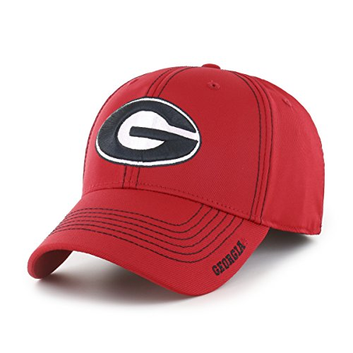 Ncaa Georgia Bulldogs University (NCAA Georgia Bulldogs Start Line OTS Center Stretch Fit Hat, Large/X-Large, Red)