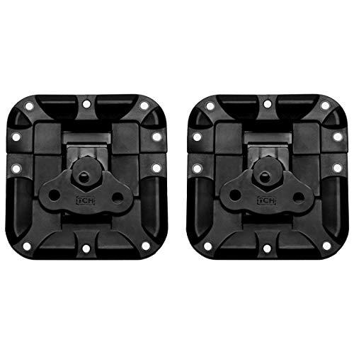 Butterfly Flight - TCH Hardware 2 Pack Lightweight Recessed Twist Latch - Nylon & Steel