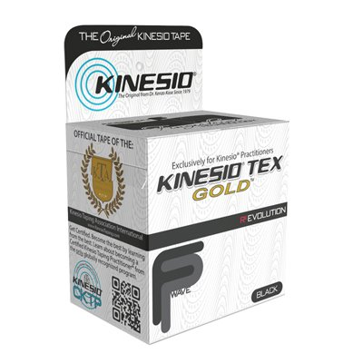 fabrication enterprises Kinesio Tex Gold FP Kinesiology Tape (Black 6 Rolls) by Kinesio