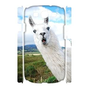 Hjqi - DIY Alpaca 3D Phone Case, Alpaca Personalized Case for Samsung Galaxy S3 I9300