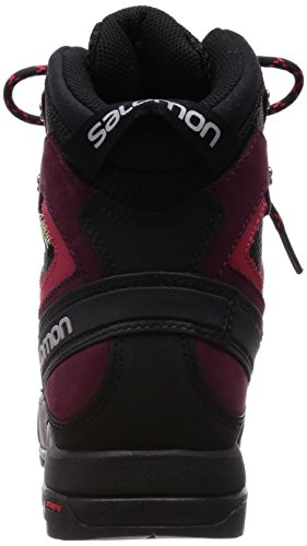 Salomon L37594600, Botas de Senderismo para Mujer Negro (Black /     Bordeaux /     Lotus Pink)