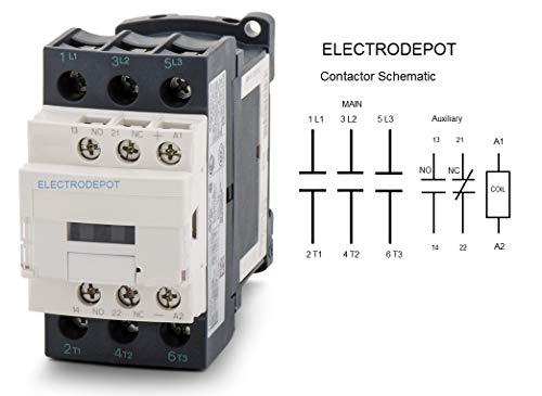 30a Contactor 3 Pole  110  120v Coil  Motor Load 32a  Lighting 40a  50a  600v Iec Din