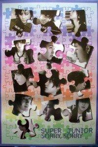 Super Junior Poster jigsaw puzzle concept Korean boy band Superjunior SuJu Siwon Kyuhyun sent