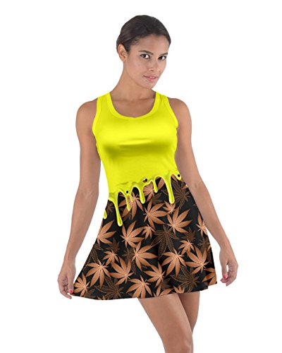 CowCow - Vestido - para mujer Yellow & Brown