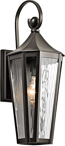 - Kichler 49512OZ, Rochdale Cast Aluminum Outdoor Wall Sconce Lighting, Olde Bronze