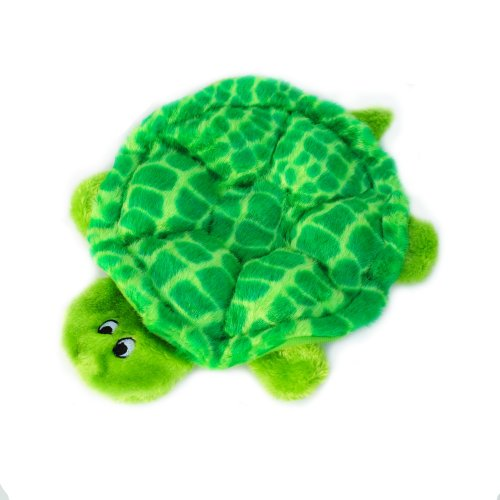 ZippyPaws Squeakie Crawler 6-Squeaker Plush Dog Toy, Slow Poke The Turtle (Mat Squeaker)