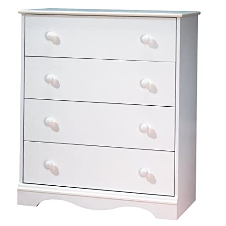 South Shore Furniture, Heavenly Collection, 4 Drawer Chest, Royal Cherry 3646034