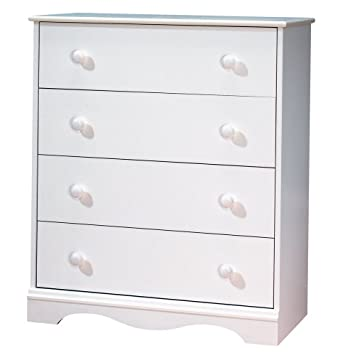 South Shore Furniture  Drawer Chest Pure White