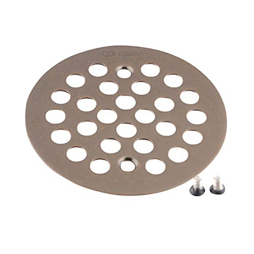 Moen 101664ORB Kingsley 4-1/4-Inch Screw-In Shower Strainer, Oil Rubbed Bronze ()