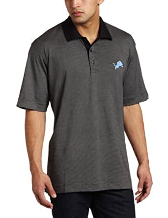 NFL Detroit Lions Men's DryTec Resolute Polo Knit Short Sleeve Top, Tour Blue, Small