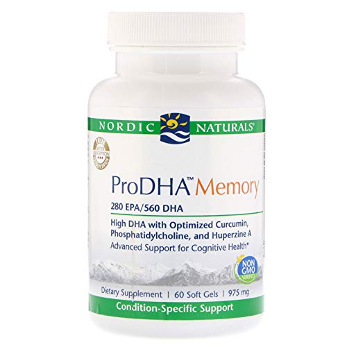 Nordic Naturals ProDHA Memory - Fish Oil, 260 mg EPA, 570 mg DHA, 400 mg Longvida Optimized Curcumin, Advanced Support for Cognitive Health and Neurological Function*, 60 Soft Gels by Nordic Naturals (Image #1)