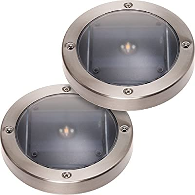 2 Pack GreenLighting Solar Deck Lights