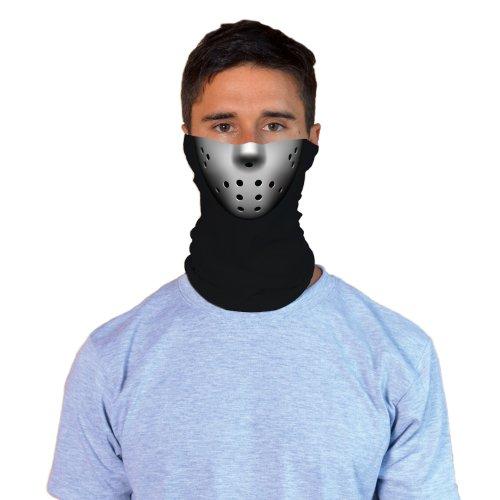 [Jason-Style Hockey Mask Adult Halloween Face Gaiter] (Last Minute Halloween Costumes Ideas For Adults)