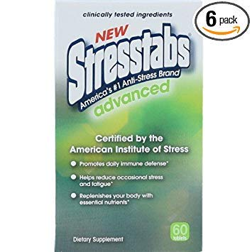 Stresstabs Advanced High Potency Stress Supplement - 60 ea, Pack of 6