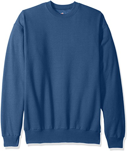 Hanes Men's EcoSmart Fleece Sweatshirt, Denim Blue, 3XL (Fashion Christmas)