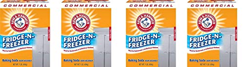 Arm & Hammer 33200-84011 Baking Soda Fridge-n-Freezer Odor Absorber, 16 oz (Pack of 12) (4-(Pack))