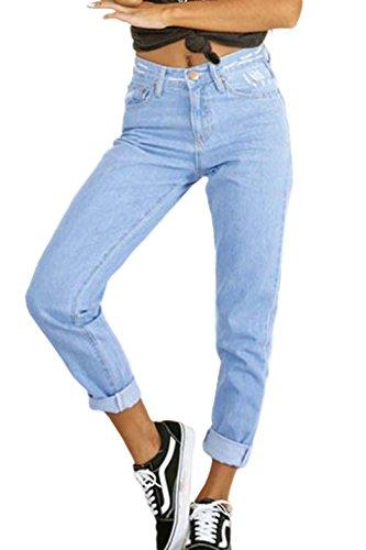 Chiaramente Fondamentali Blue Le Lunghezza Jeans Pantaloni Classici Sono Ragazzo Caviglia Donne xwqEqHCO1