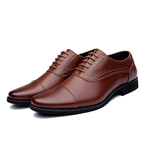 EU Basse Stringate casual shoes business Marrone Nero uomo 41 scarpe punta stile Dimensione formali suggerimento oxford Color confortevoli da semplici Scarpe Xujw e grande 2018 a Scarpe britannico wPFndqxIIt