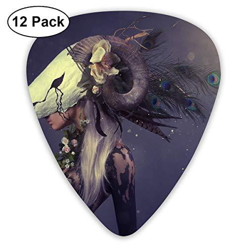 Anticso Custom Guitar Picks, Halloween Women Mask Ram Skull Guitar Pick,Jewelry Gift For Guitar Lover,12 Pack