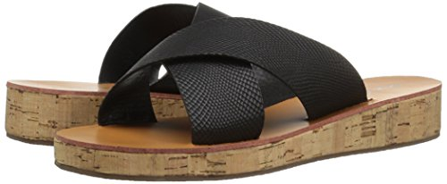 Polyurethane Slide Qupid 15 Lizard Sandal Black Women's Flip Wedge SwqRwx8Tg