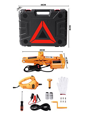 Electric Car Floor Jack Set 12v, ROGTZ All-in-one Automatic 3 Ton Car Lift Scissor Jack Set with Impact Wrench, Car Repair Tool Kit for Sedan, SUV and Truck by ROGTZ (Image #1)