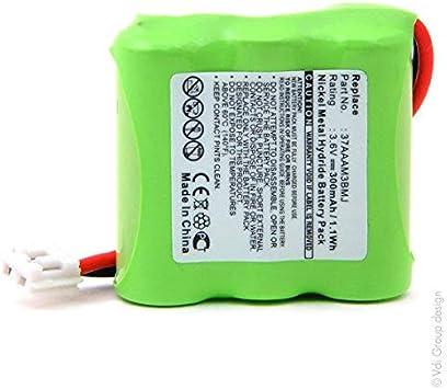 NX - Batería para teléfonos inalámbricos (3 Pilas 2/3 AAA, 3S1P, ST1, 3,6 V 300 mAh): Amazon.es: Electrónica