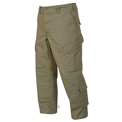 Trouser Uniform (Tru-Spec TAC T.R.U.Trousers 50/50 Nylon/Cotton Rip-Stop, Olive Drab, Medium Short 1391044)