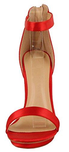 Rosso Piattaforma Pompa Cinturino 01 Selvaggio Amy Punta Del Aperta Donne Stiletto Alla Sandalo Del Diva Caviglia Tallone Raso xq4TPYqwC