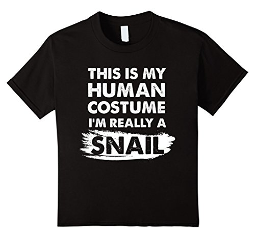 Kids This Is My Human Costume I'm Really a Snail, Halloween Shirt 10 Black